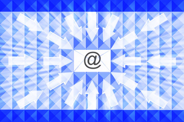 mail arrows abstract background