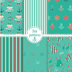 Set of sea patterns