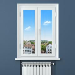 Comfort in house. Heater radiator in room