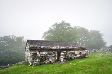 Wall Mural - stone house in countryside