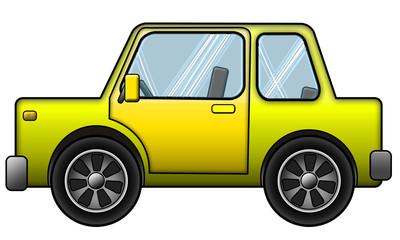 Auto Gelb
