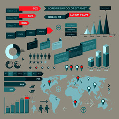 Infographic elements, information graphics, vector Eps10 image.