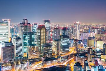 Osaka at dusk japan