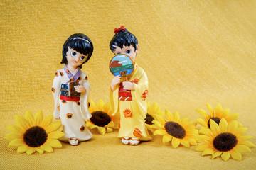 Figurine Japanese Geisha