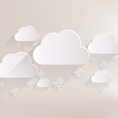 Cloud with snow web icon