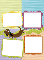 Cartoon elements - for writing - illustration for the children