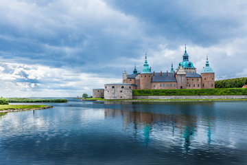 Wall Murals Northern Europe Historical Kalmar castle in Sweden Scandinavia Europe. Landmark.