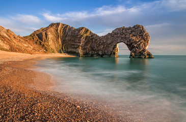 Printed roller blinds Sea Durdle Dor a rock arch off the Jurassic Coast Dorset England