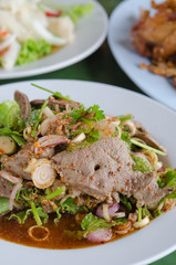 liver salad , spicy dish