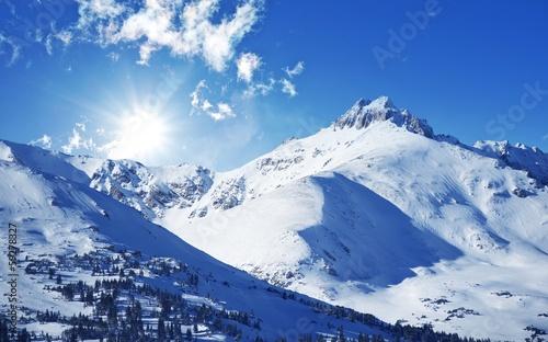 Wall mural Winter Mountains