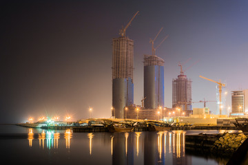 Skyscraper under constructions