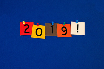 2019 - sign for the new year