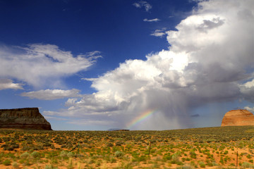 arc en ciel sur le painted desert ,Arizona