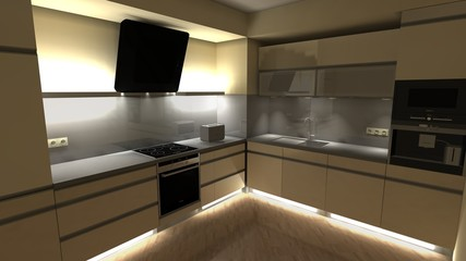 Modern kitchen project