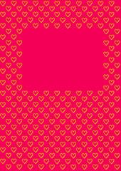 Valentinstag Hintergrund Herzen auf rot