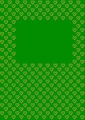 Valentinstag Hintergrund Herzen auf grün