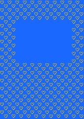 Valentinstag Hintergrund Herzen auf blau