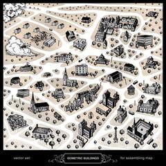 isometric buildings for assembling map