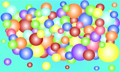 bubbles backround vector