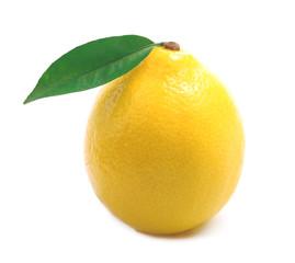 Ripe lemon isolated.