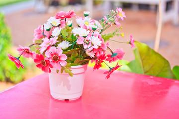 Colorful plastic flower