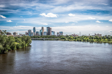 View of downtown Minneapolis Wall mural