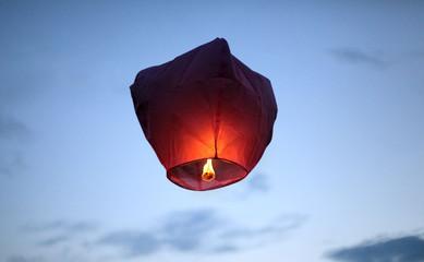 red sky lanterns