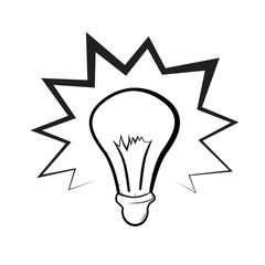 Bulb Illustration Isolated on White Background