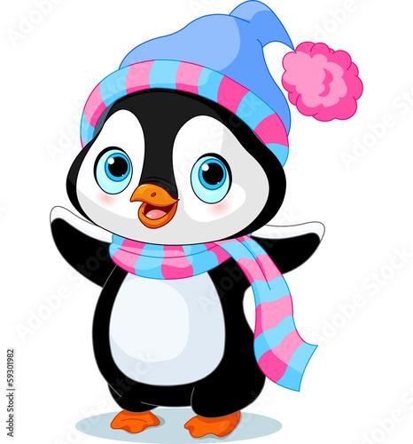 """""""Cute Winter Penguin"""" Stock Afbeeldingen En Rechtenvrije"""