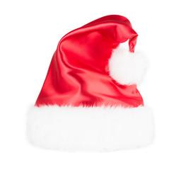santa claus hat set isolated on white background