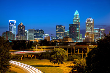 Twilight in Charlotte Wall mural