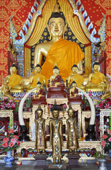 golden buddha statue, north of thailand