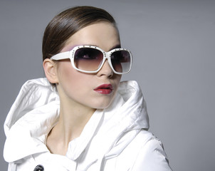 fashion model in sunglasses posing