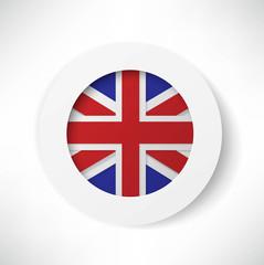 britain flag button