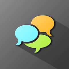 SPEECH BUBBLES Icon (web forum chat testimonials button)