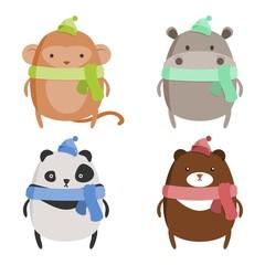 Chubby Animals Winter Set