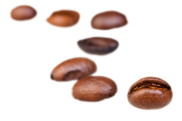 curve line pattern from roasted coffee beans