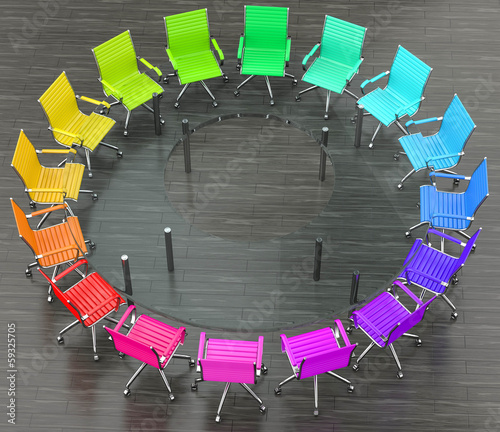 glastisch mit bunte st hle stockfotos und lizenzfreie bilder auf bild 59325705. Black Bedroom Furniture Sets. Home Design Ideas