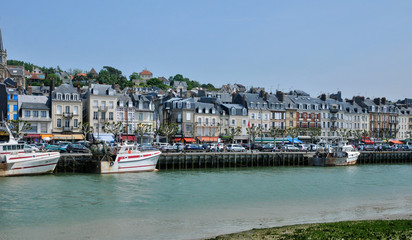 France,  picturesque city of Trouville in Normandie