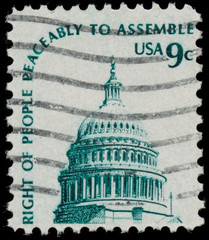 UNITED STATES - CIRCA 1970 : A stamp printed in United States. s