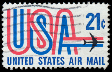 USA - CIRCA 1973: A stamp printed in the USA showing 21c, circa