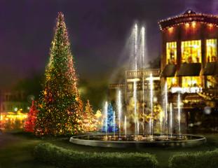 Christmas shopping, black friday,romantic place for dinner
