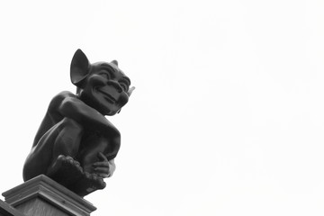 Cute Gargoyle With Pointed Ears