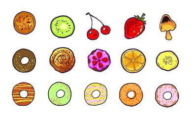 sweets dessert icon illustration