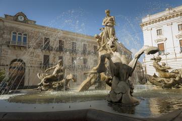 fontana di piazza archimede siracusa Fototapete