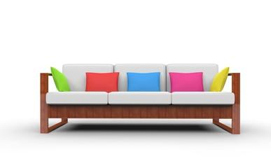 Bright Colorful Sofa