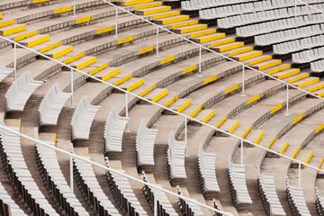 tribunes of the large stadium