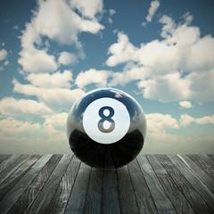 8 ball 3d illustration