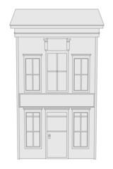 cartoon image of western house