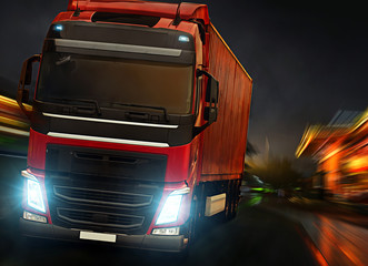 Wall Mural - Night Truck